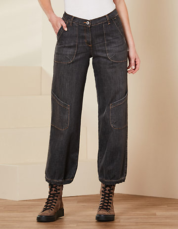 Deerberg Relaxed-Fit-Jeans Babette Bio black-denim