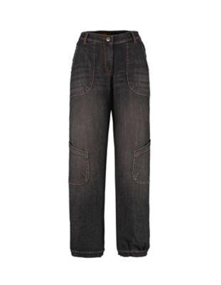 Deerberg Relaxed-Fit Jeans Babette Bio black-denim