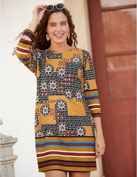 Jersey-Kleid Wilmke von Deerberg in braun | Deerberg