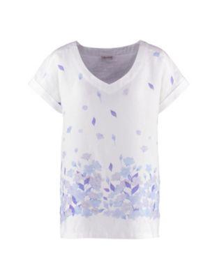 Deerberg Leinen-Shirt Dietra weiß-blau