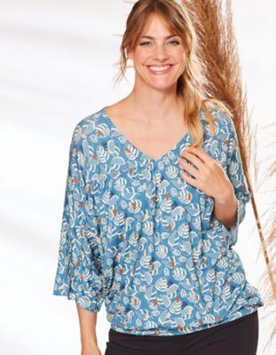 Deerberg Jersey-Shirt Jovanka dunkeltürkis