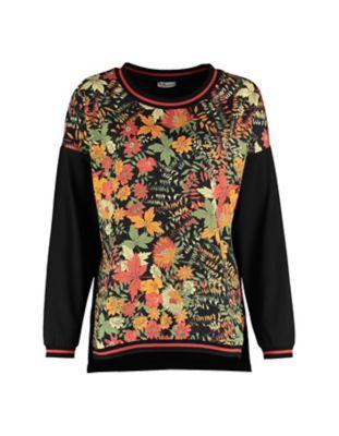 Deerberg Shirt Brurya schwarz-bunt