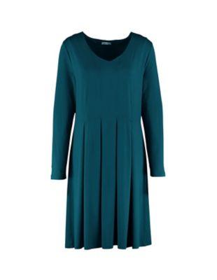 Deerberg Jersey-Kleid Bonina antikpetrol