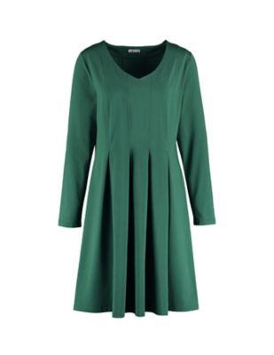 Deerberg Jersey-Kleid Bonina zederngrün