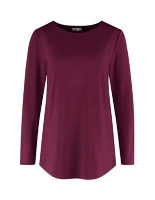 Deerberg Jersey-Shirt Agnasa aubergine