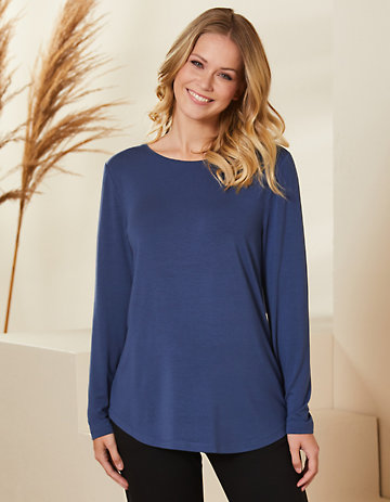 Deerberg Jersey-Shirt Agnasa dunkelblau