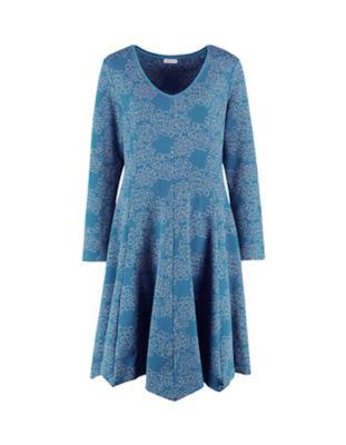 Deerberg Jacquardjersey-Kleid Ajita tiefpetrol