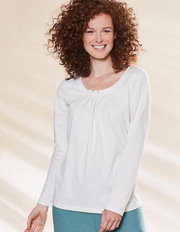 Deerberg Jersey-Shirt Trientje cremeweiß