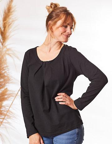 Deerberg Jersey-Shirt Trientje schwarz