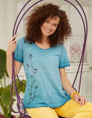 Deerberg Jersey-Shirt Ainara petrol-washed