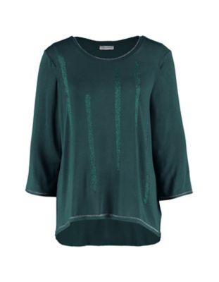 Deerberg Lurex-Shirt Bozena tanne