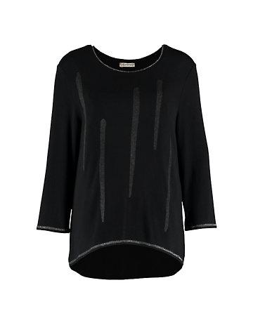 Deerberg Lurex-Shirt Bozena schwarz