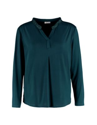 Deerberg Lurex-Shirt Janey tanne