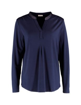 Deerberg Lurex-Shirt Janey nachtblau