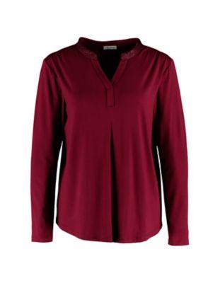 Deerberg Lurex-Shirt Janey kastanienbraun