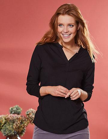 Deerberg Lurex-Shirt Janey schwarz
