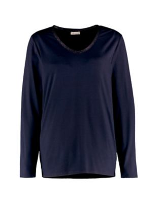 Deerberg Lurex-Shirt Narmin nachtblau