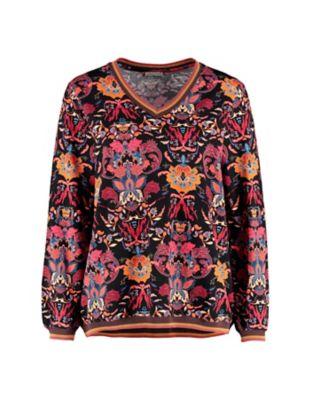 Deerberg Jersey-Shirt Patni schwarz-bunt