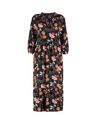 Deerberg Kleid Elmine schwarz-bunt