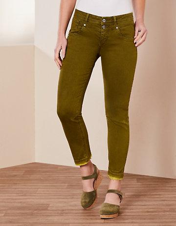 Deerberg Slim-Fit-Jeans Saroja dillgrün-washed