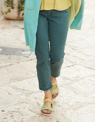 Deerberg Slim-Fit-Jeans Saroja libellenblau-washed
