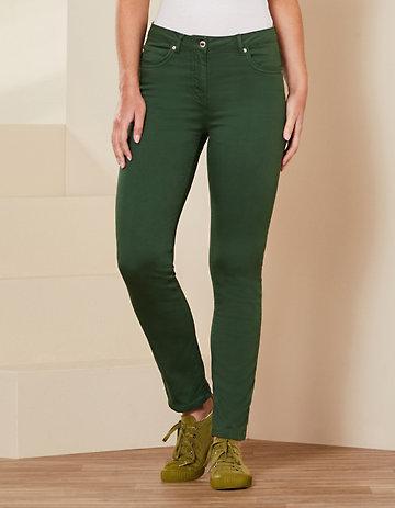 Deerberg Slim-Fit-Hose Ariela zederngrün