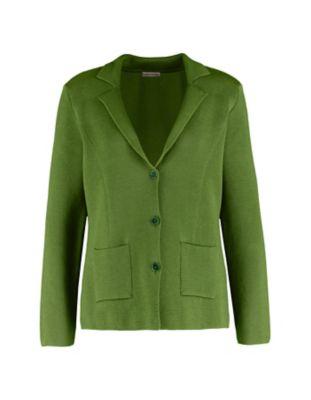 Deerberg Strick-Blazer Sarja grasgrün