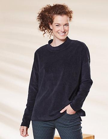 Deerberg Nicki-Cord-Shirt Taleshia schwarz