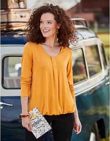 Deerberg Jersey-Shirt Verica herbstgold