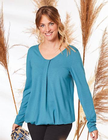 Deerberg Jersey-Shirt Verica libellenblau