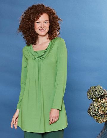 Deerberg Jersey-Tunika Rachil grasgrün