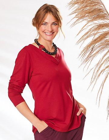 Deerberg Jersey-Shirt Leelou retrorot