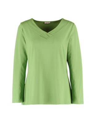 Deerberg Jersey-Shirt Leelou grasgrün