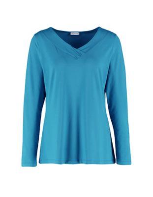 Deerberg Jersey-Shirt Leelou libellenblau