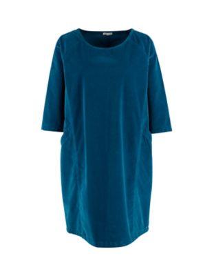 Deerberg Samt-Kleid Voline nachthimmel