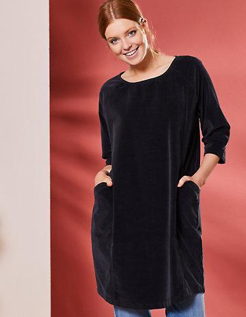 Deerberg Samt-Kleid Voline schwarz