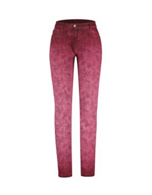 Deerberg Slim-Fit-Hose Teresita malaga-washed