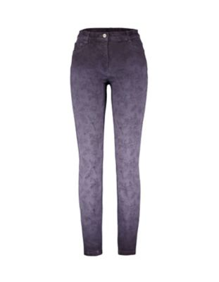 Deerberg Slim-Fit-Hose Teresita bleigrau-washed