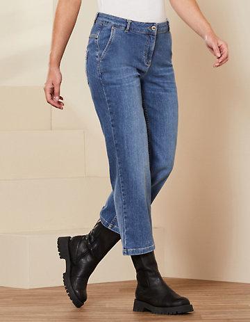 Deerberg 7/8-Jeans Waike blue-used