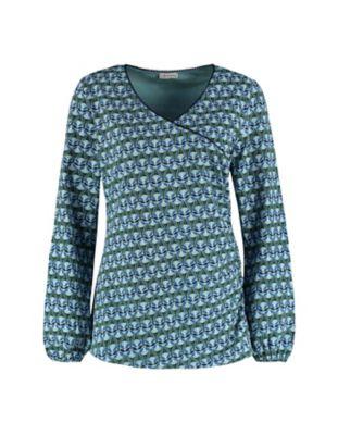 Deerberg Jersey-Shirt Liena türkis-bedruckt