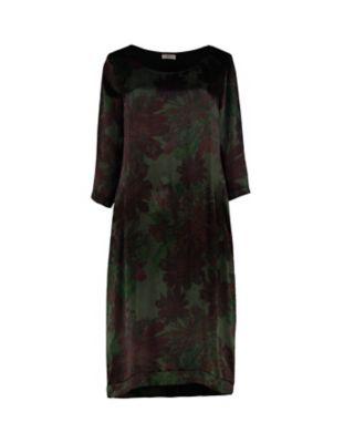 Deerberg Cupro-Kleid Inta dunkelgrün