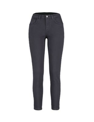 Deerberg Slim-Fit-Hose Thalina bleigrau-washed