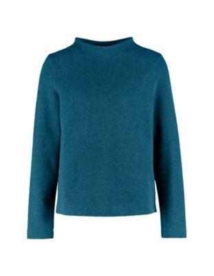 Deerberg Jacquardjersey-Shirt Verone petrol-melange