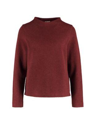 Deerberg Jacquardjersey-Shirt Verone kastanienbraun-melange