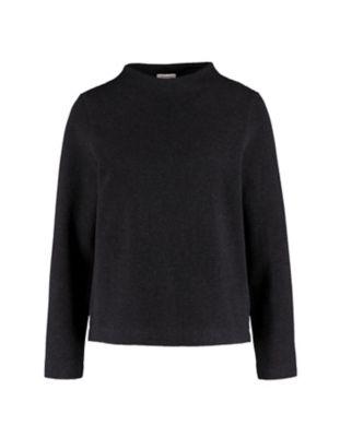 Deerberg Jacquardjersey-Shirt Verone schwarz-melange