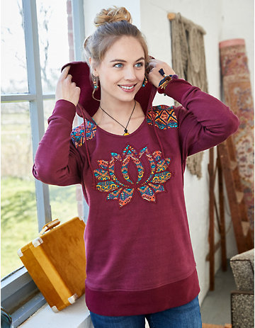Deerberg Sweatshirt Tjadina bordeaux