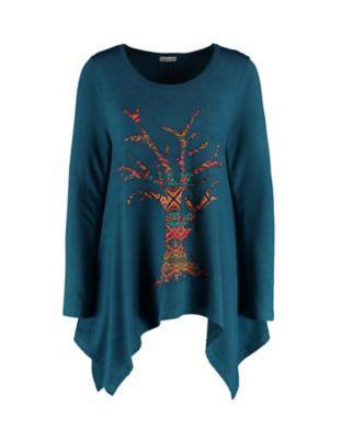 Deerberg Jersey-Shirt Broiny libellenblau