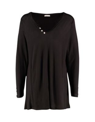 Deerberg Jersey-Shirt Marketa schwarz
