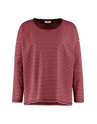 Deerberg Jersey-Shirt Lorelies burgunderrot-mineralrot
