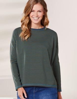 Deerberg Jersey-Shirt Lorelies antikpetrol-avocadogrün